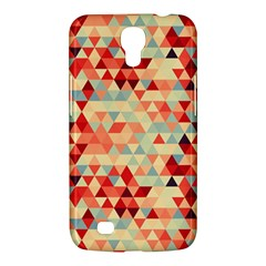 Modern Hipster Triangle Pattern Red Blue Beige Samsung Galaxy Mega 6 3  I9200 Hardshell Case by EDDArt