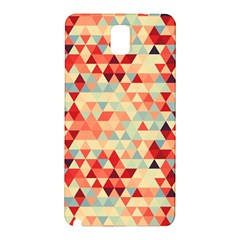 Modern Hipster Triangle Pattern Red Blue Beige Samsung Galaxy Note 3 N9005 Hardshell Back Case by EDDArt