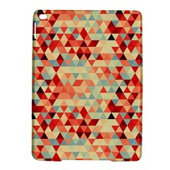 Modern Hipster Triangle Pattern Red Blue Beige Ipad Air 2 Hardshell Cases by EDDArt