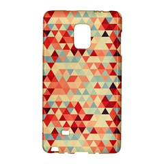 Modern Hipster Triangle Pattern Red Blue Beige Galaxy Note Edge by EDDArt