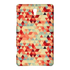Modern Hipster Triangle Pattern Red Blue Beige Samsung Galaxy Tab S (8 4 ) Hardshell Case