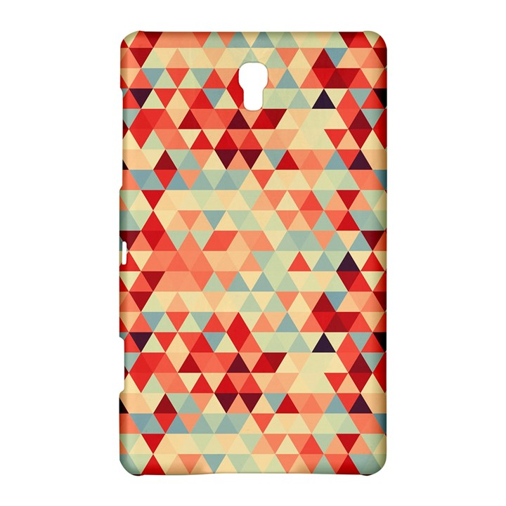 Modern Hipster Triangle Pattern Red Blue Beige Samsung Galaxy Tab S (8.4 ) Hardshell Case