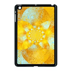 Gold Blue Abstract Blossom Apple Ipad Mini Case (black) by designworld65