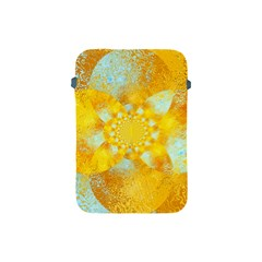 Gold Blue Abstract Blossom Apple Ipad Mini Protective Soft Cases by designworld65