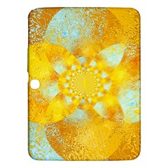 Gold Blue Abstract Blossom Samsung Galaxy Tab 3 (10 1 ) P5200 Hardshell Case