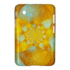 Gold Blue Abstract Blossom Samsung Galaxy Tab 2 (7 ) P3100 Hardshell Case  by designworld65