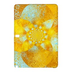 Gold Blue Abstract Blossom Samsung Galaxy Tab Pro 10 1 Hardshell Case by designworld65