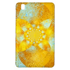 Gold Blue Abstract Blossom Samsung Galaxy Tab Pro 8 4 Hardshell Case by designworld65