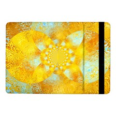 Gold Blue Abstract Blossom Samsung Galaxy Tab Pro 10 1  Flip Case by designworld65