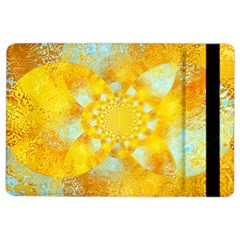 Gold Blue Abstract Blossom Ipad Air 2 Flip by designworld65