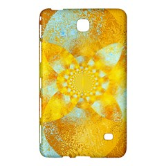 Gold Blue Abstract Blossom Samsung Galaxy Tab 4 (7 ) Hardshell Case  by designworld65