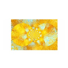 Gold Blue Abstract Blossom Satin Wrap by designworld65