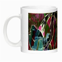 Sly Dog Modern Grunge Style Blue Pink Violet Night Luminous Mugs by EDDArt
