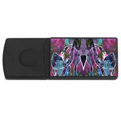 Sly Dog Modern Grunge Style Blue Pink Violet Usb Flash Drive Rectangular (4 Gb)  by EDDArt