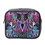 Sly Dog Modern Grunge Style Blue Pink Violet Mini Toiletries Bag 2-Side Front
