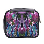 Sly Dog Modern Grunge Style Blue Pink Violet Mini Toiletries Bag 2-Side Back