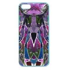 Sly Dog Modern Grunge Style Blue Pink Violet Apple Seamless Iphone 5 Case (color) by EDDArt