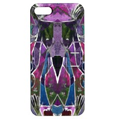 Sly Dog Modern Grunge Style Blue Pink Violet Apple Iphone 5 Hardshell Case With Stand by EDDArt