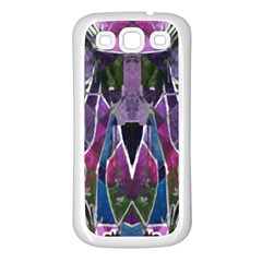 Sly Dog Modern Grunge Style Blue Pink Violet Samsung Galaxy S3 Back Case (white) by EDDArt