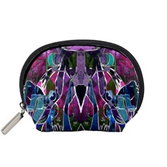 Sly Dog Modern Grunge Style Blue Pink Violet Accessory Pouches (small)  by EDDArt