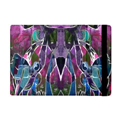 Sly Dog Modern Grunge Style Blue Pink Violet Ipad Mini 2 Flip Cases by EDDArt