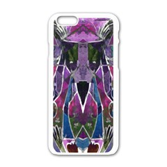 Sly Dog Modern Grunge Style Blue Pink Violet Apple Iphone 6/6s White Enamel Case by EDDArt