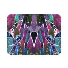 Sly Dog Modern Grunge Style Blue Pink Violet Double Sided Flano Blanket (mini)  by EDDArt