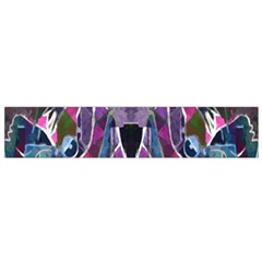 Sly Dog Modern Grunge Style Blue Pink Violet Flano Scarf (small) by EDDArt