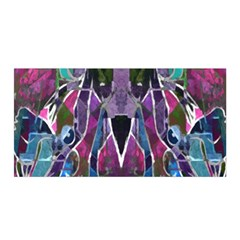 Sly Dog Modern Grunge Style Blue Pink Violet Satin Wrap by EDDArt
