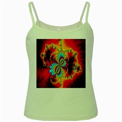 Crazy Mandelbrot Fractal Red Yellow Turquoise Green Spaghetti Tank