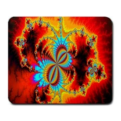 Crazy Mandelbrot Fractal Red Yellow Turquoise Large Mousepads