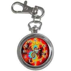 Crazy Mandelbrot Fractal Red Yellow Turquoise Key Chain Watches