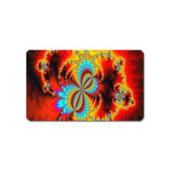 Crazy Mandelbrot Fractal Red Yellow Turquoise Magnet (name Card) by EDDArt
