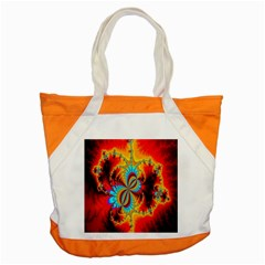 Crazy Mandelbrot Fractal Red Yellow Turquoise Accent Tote Bag