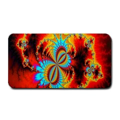 Crazy Mandelbrot Fractal Red Yellow Turquoise Medium Bar Mats by EDDArt