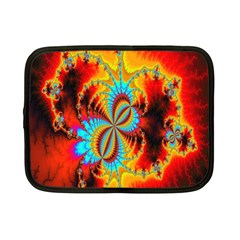 Crazy Mandelbrot Fractal Red Yellow Turquoise Netbook Case (small)  by EDDArt