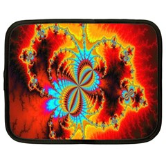 Crazy Mandelbrot Fractal Red Yellow Turquoise Netbook Case (XL)