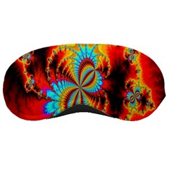 Crazy Mandelbrot Fractal Red Yellow Turquoise Sleeping Masks by EDDArt