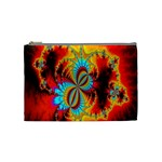 Crazy Mandelbrot Fractal Red Yellow Turquoise Cosmetic Bag (Medium)  Front