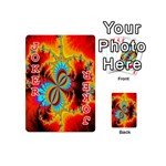 Crazy Mandelbrot Fractal Red Yellow Turquoise Playing Cards 54 (Mini)  Front - Joker2