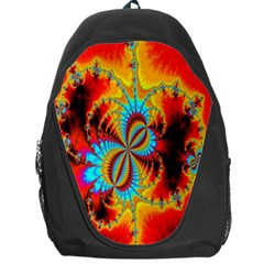Crazy Mandelbrot Fractal Red Yellow Turquoise Backpack Bag