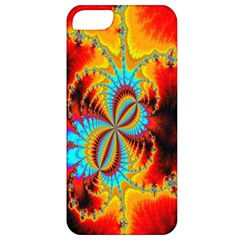 Crazy Mandelbrot Fractal Red Yellow Turquoise Apple iPhone 5 Classic Hardshell Case