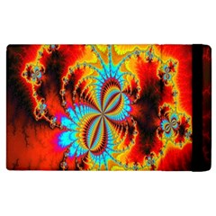 Crazy Mandelbrot Fractal Red Yellow Turquoise Apple iPad 2 Flip Case