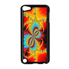 Crazy Mandelbrot Fractal Red Yellow Turquoise Apple iPod Touch 5 Case (Black)