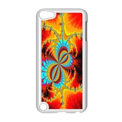 Crazy Mandelbrot Fractal Red Yellow Turquoise Apple Ipod Touch 5 Case (white) by EDDArt