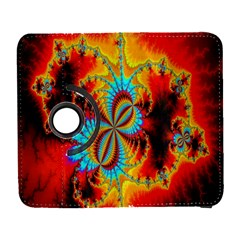 Crazy Mandelbrot Fractal Red Yellow Turquoise Samsung Galaxy S  III Flip 360 Case