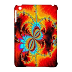 Crazy Mandelbrot Fractal Red Yellow Turquoise Apple iPad Mini Hardshell Case (Compatible with Smart Cover)