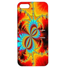 Crazy Mandelbrot Fractal Red Yellow Turquoise Apple Iphone 5 Hardshell Case With Stand by EDDArt