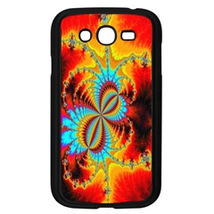 Crazy Mandelbrot Fractal Red Yellow Turquoise Samsung Galaxy Grand Duos I9082 Case (black) by EDDArt