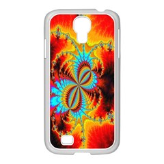 Crazy Mandelbrot Fractal Red Yellow Turquoise Samsung Galaxy S4 I9500/ I9505 Case (white) by EDDArt